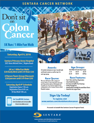 Don T Sit On Colon Cancer 5k Run 1 Mile Fun Walk Gastrointestinal Liver Specialists Of Tidewater Pllc